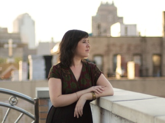 Katie Salisbury on a rooftop in Chinatown