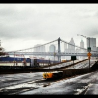 The FDR was closed on Tuesday after the storm.