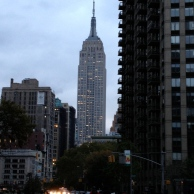 the empire state bldg lit up